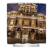The Louvre Museum At Night Shower Curtain