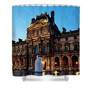The Louvre Palace Shower Curtain