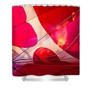 Hearts A' Fire - The Love Hot Air Balloon Shower Curtain