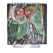 The Love Birds Shower Curtain