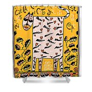 The Love Cat Shower Curtain