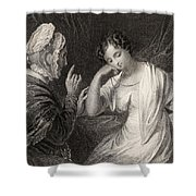 The Love Letter Engraved By Charles Shower Curtain
