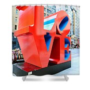The Love Sculpture Shower Curtain by Paul Ward