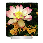 The Lovely Lotus Shower Curtain