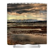 The Lower Pack River Idaho Shower Curtain