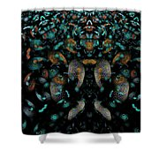 The Maddening Crowd Shower Curtain