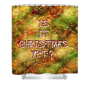 The Madness Of Christmas Card Shower Curtain