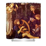 The Madness Of Sir Tristram Shower Curtain