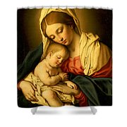 The Madonna And Child Shower Curtain by Il Sassoferrato