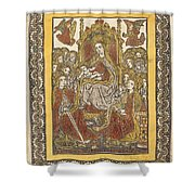 The Madonna Enthroned With Eighteen Holy Women Shower Curtain