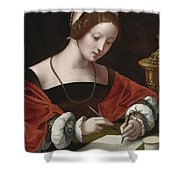 The Magdalene Writing A Letter Shower Curtain