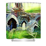 The Magic And Majesty Of Corfe Castle Shower Curtain