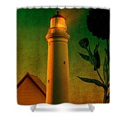 The Magic Lighthouse Shower Curtain