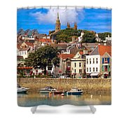 The Magic Of St. Peter Port In Guernsey Shower Curtain
