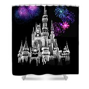 The Magical Kingdom Castle Shower Curtain