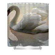 The Magical Swan  Shower Curtain