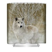 The Magical Wolf Shower Curtain