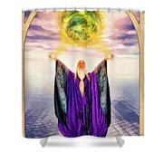 The Magician Shower Curtain by John Edwards