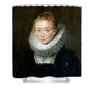 The Maid Of Honor To The Infanta Isabella Peter Paul Rubens Shower Curtain