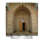 the main entrance, doorway, door, Asia Shower Curtain