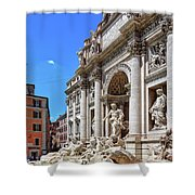 The Majesty Of The Trevi Fountain In Rome Shower Curtain