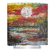 The Man And The Moon Shower Curtain