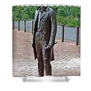 The Man Behind Monticello Shower Curtain