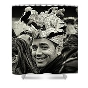 The Man In The Dragon Hat Shower Curtain