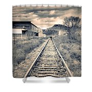 The Man On The Tracks Shower Curtain