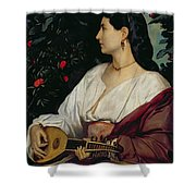 The Mandolin Player Shower Curtain