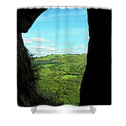 The Manifold Valley From Thor's Cave Shower Curtain