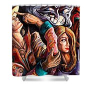 The Manipulation From The Anti-consciousness Monsters Shower Curtain