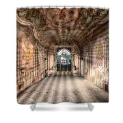 The Manor House With The Two Knights Hall Shower Curtain