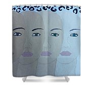 The Many Faces Of The World Shower Curtain