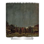 The Maple Sugar Camp Turning Off Shower Curtain