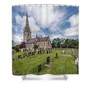 The Marble Church Shower Curtain
