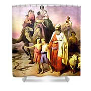The March Of Abraham Shower Curtain