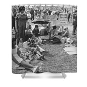 The March On Washington   At Washington Monument Grounds Shower Curtain
