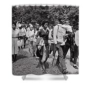 The March On Washington  Freedom Walkers Shower Curtain