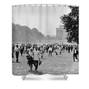 The March On Washington  Heading Home Shower Curtain