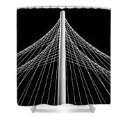 The Margaret Hunt Hill Bridge In Dallas Shower Curtain by Robert Bellomy