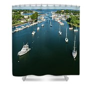 The Marina In Mamaroneck Shower Curtain