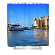 The Marina Sarasota Fl Shower Curtain