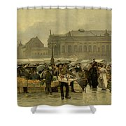 The Market In Antwerp Shower Curtain