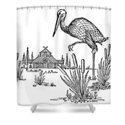 The Marsh Kings Daughter Shower Curtain