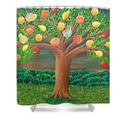 The Marzipan Tree Shower Curtain
