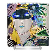 The Mask Party Shower Curtain