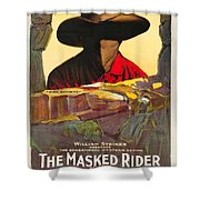 The Masked Rider 1919 Shower Curtain