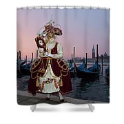 The Masks Of Venice Carnival Shower Curtain