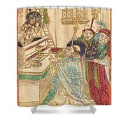 The Mass Of Saint Gregory Shower Curtain